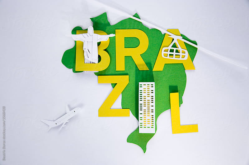 Brazilian concept with symbols of the city of Rio de Janeiro by Beatrix Boros for Stocksy United