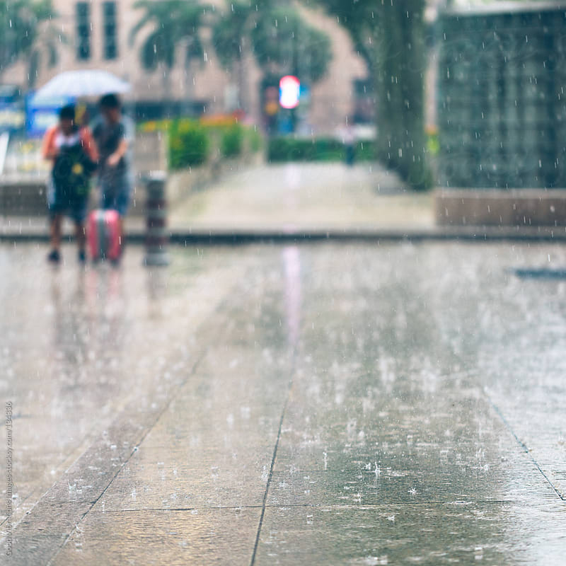 Rainy day in Kuala Lumpur by Good Vibrations Images for Stocksy United