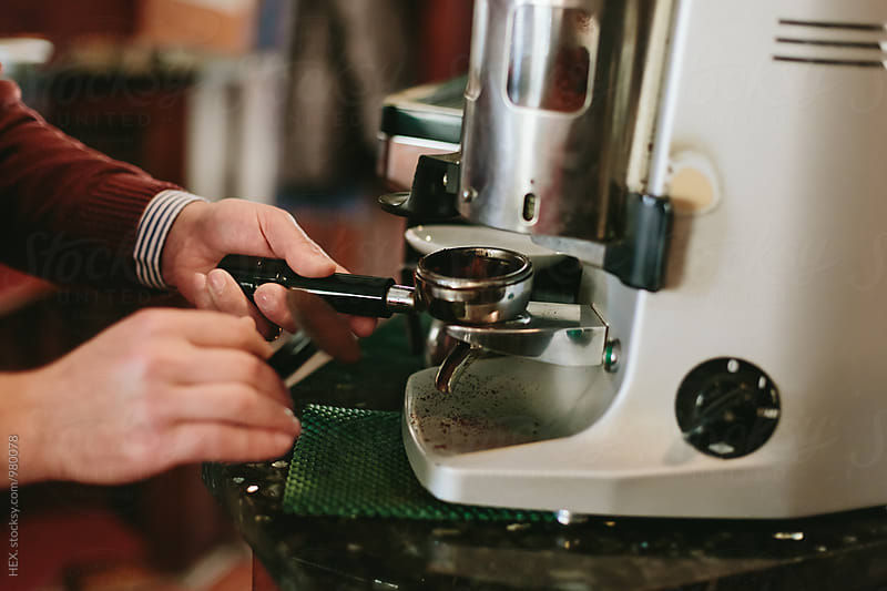 Barista Man Preparing Espresso Coffee by Mattia Pelizzari for Stocksy United