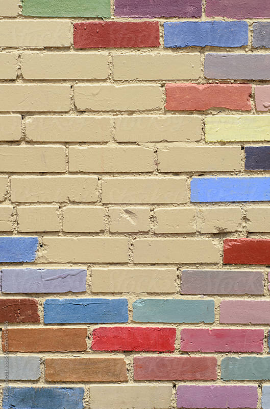 Painted Brick Wall by Julie Rideout for Stocksy United