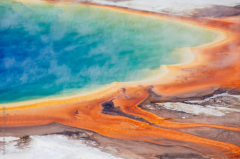Grand Prismatic Spring Yellowstone National Park by Gary Parker for Stocksy United