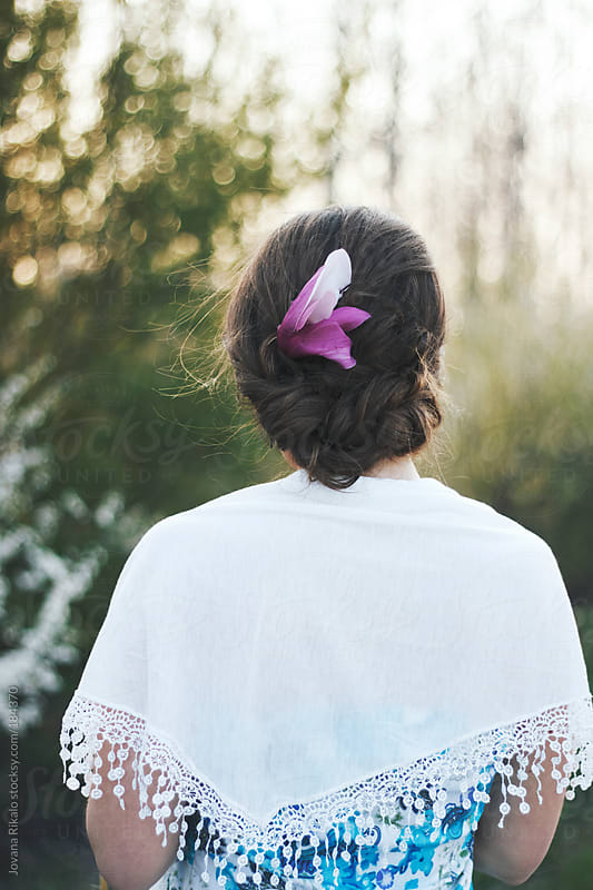 Beautiful hairstyle from behind by Jovana Rikalo for Stocksy United