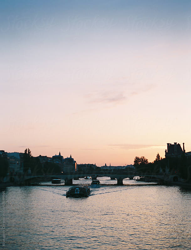 Sunset on the La Seine by Kristopher Orr for Stocksy United