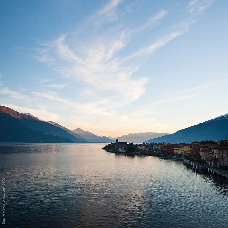 Town in Lake Como by Simone Becchetti for Stocksy United