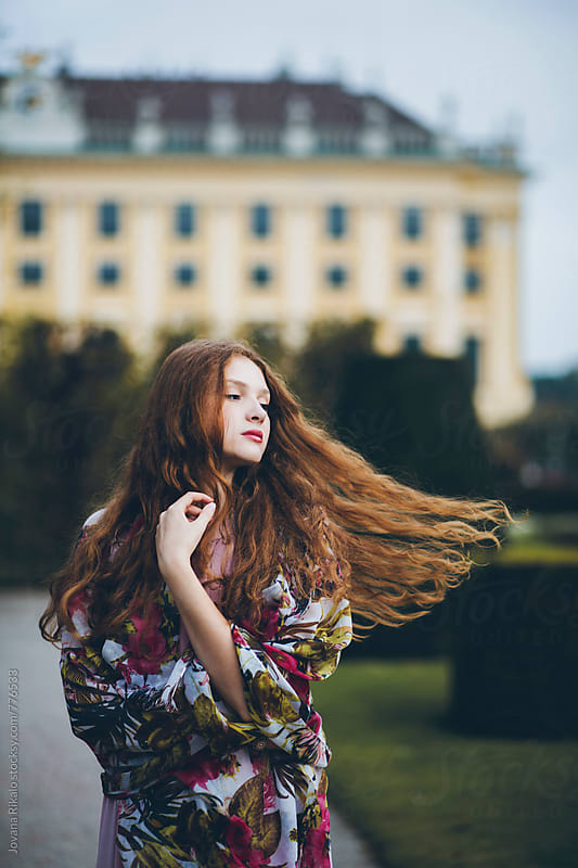 Wind in woman's hair by Jovana Rikalo for Stocksy United