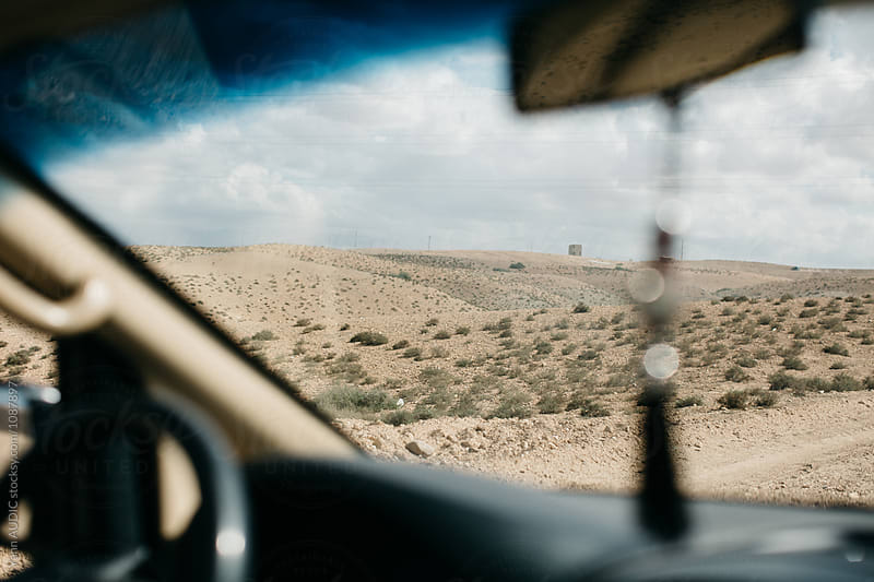 Desert from a car by Yann AUDIC for Stocksy United