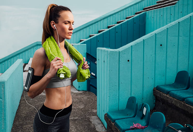 Attractive Fit Woman Taking A Break by Katarina Radovic for Stocksy United
