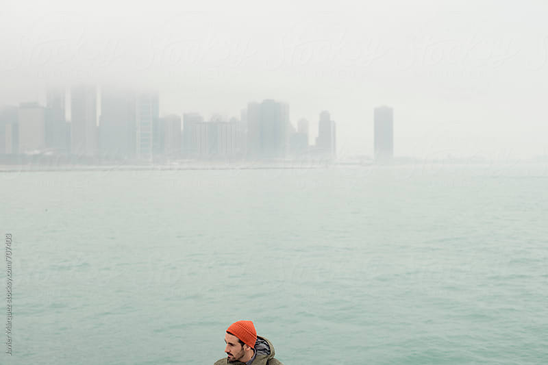 Men in Chicago Port by Javier Márquez for Stocksy United