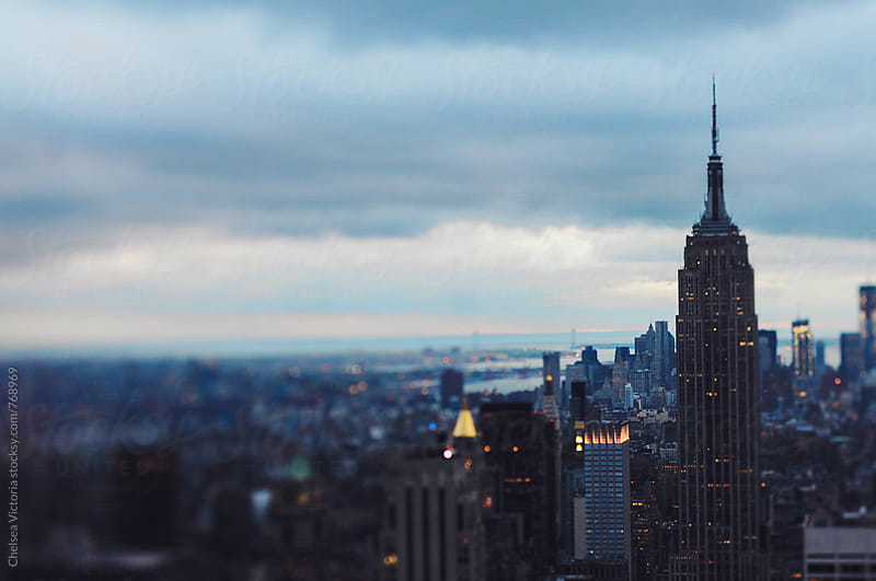 Manhattan skyline at dusk by Chelsea Victoria for Stocksy United