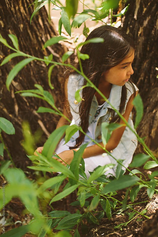 Young Girl in Nature  by Gabrielle Lutze for Stocksy United