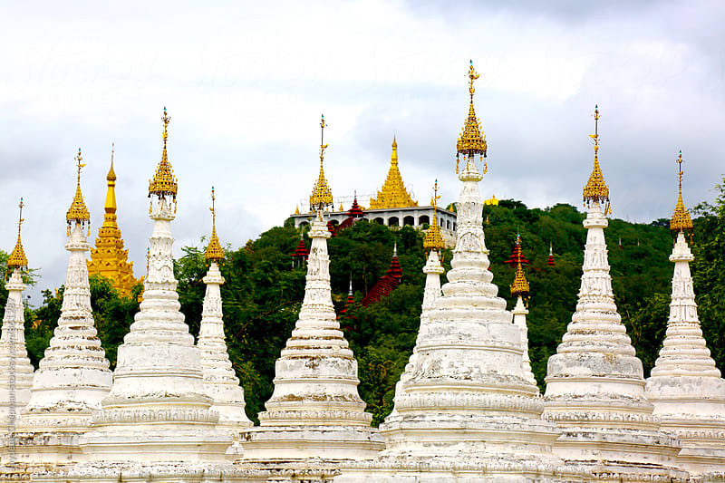 A White temple in Mandalay, Myanmar (Burma) by Jaydene Chapman for Stocksy United