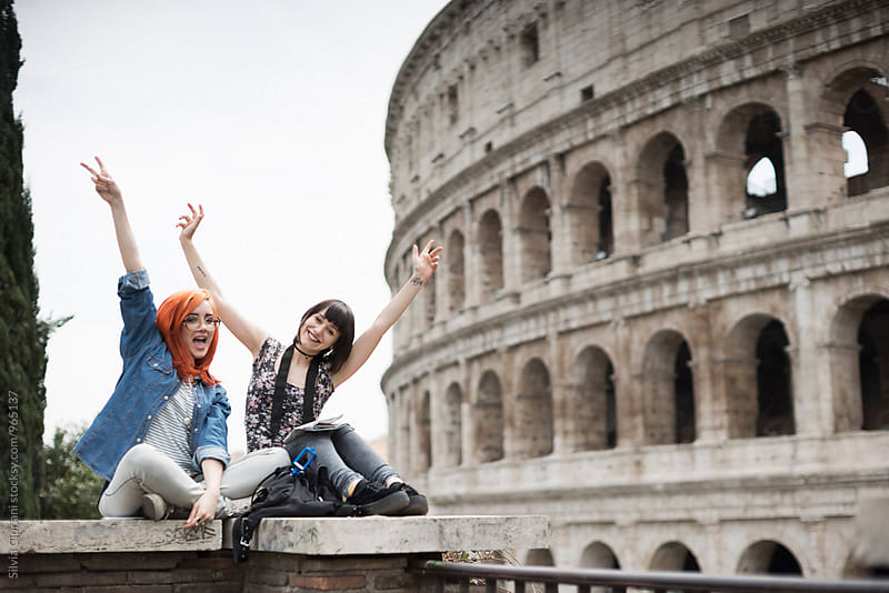 Young tourists in Rome by Silvia Cipriani for Stocksy United