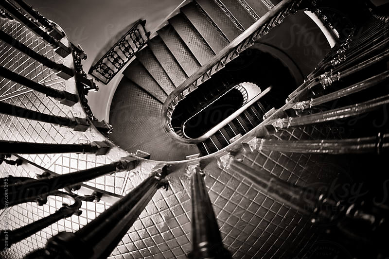 stairs, Old historic courthouse, St. Louis, MO by Thomas Hawk for Stocksy United