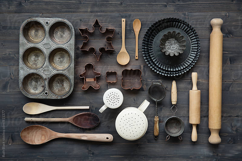 Vintage baking equipment by Ruth Black for Stocksy United