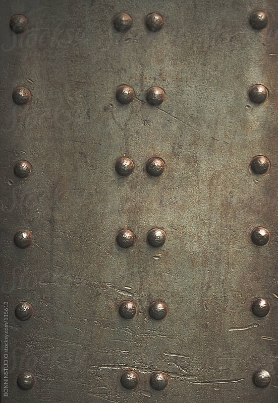 Metal background. by BONNINSTUDIO for Stocksy United