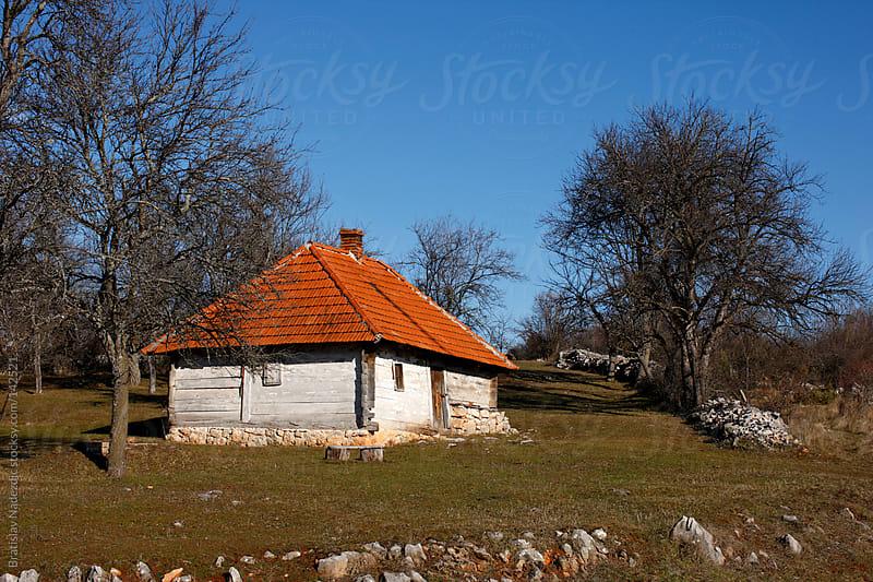 Old wooden mountain house by Bratislav Nadezdic for Stocksy United