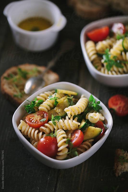 Fresh Pasta Salad by Davide Illini for Stocksy United