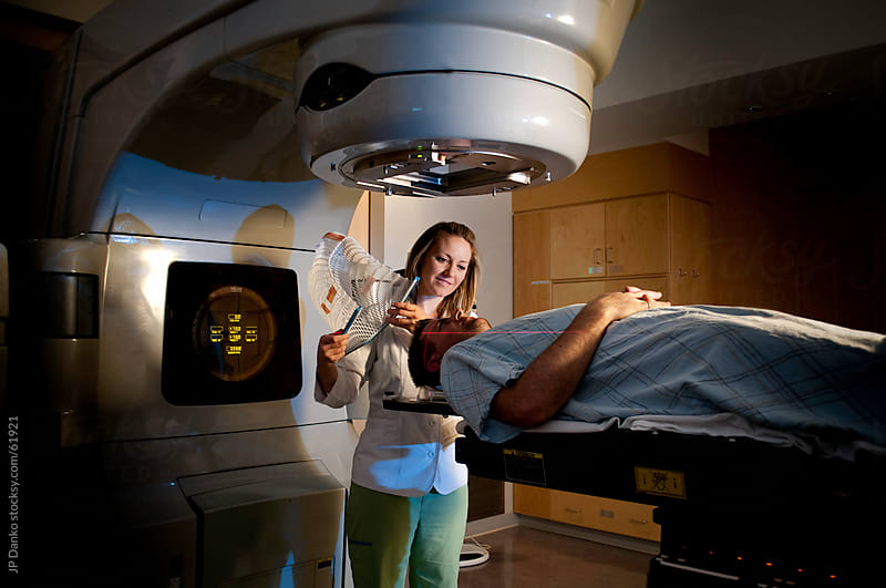 Brain Cancer Medical Radiation Therapy Treatment at Hospital by JP Danko for Stocksy United