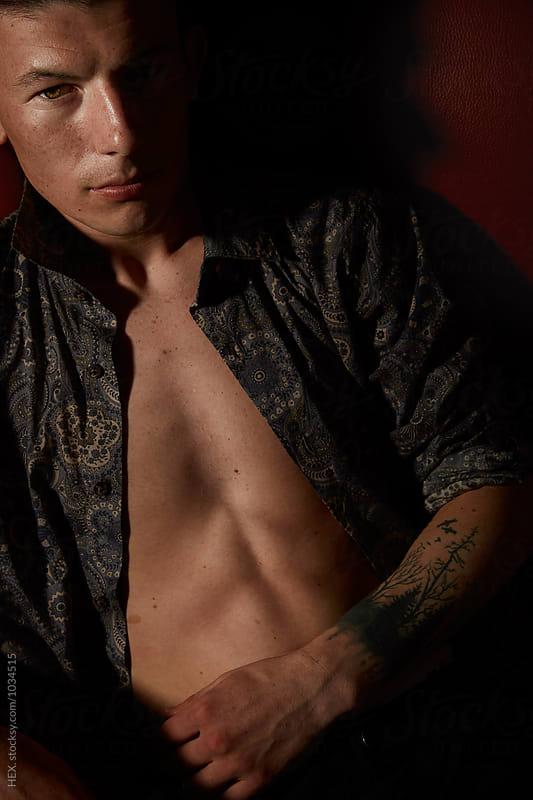 Young Male Model Posign . Fashion by Mattia Pelizzari for Stocksy United