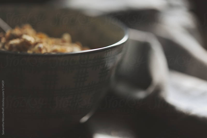edge of bowl with granola by Samantha Wesselhoft for Stocksy United