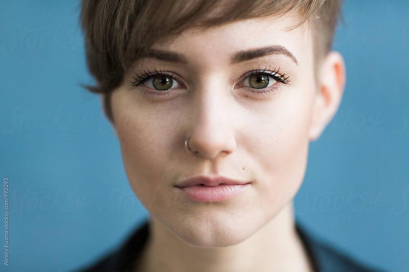 Portrait of androgyne by Alexey Kuzma for Stocksy United
