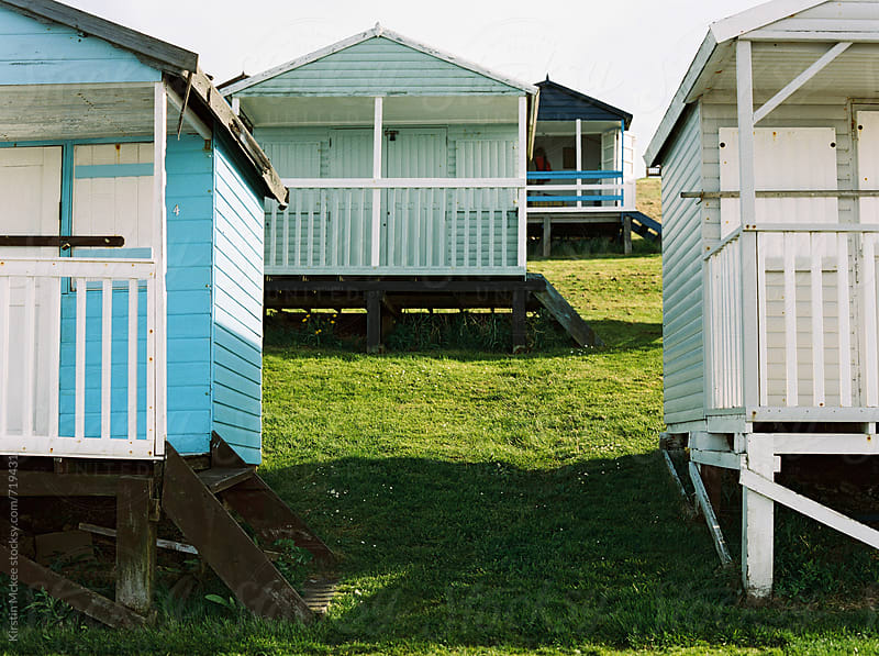 Beach huts, Tankerton by Kirstin Mckee for Stocksy United