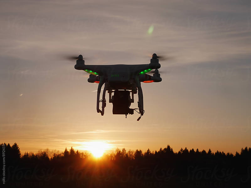 Quadrocopter in air  by rolfo for Stocksy United