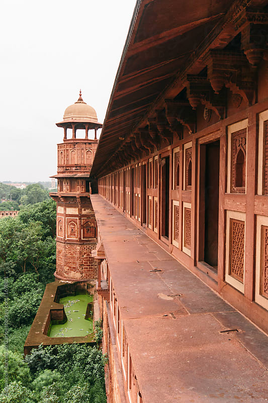 Fort palace architecture, Red Fort, Agra, India travel image by Alejandro Moreno de Carlos for Stocksy United