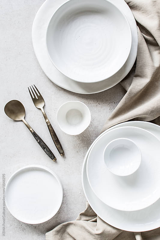 White crockery  by KEMA Food Culture for Stocksy United