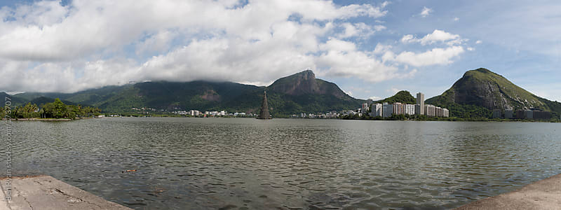 Rio de Janeiro, Brazil - Panorama view of Lagoa Freitas including Corcovado by Ben Ryan for Stocksy United