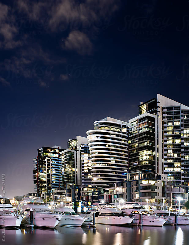 Docklands apartments and boats by Gary Radler Photography for Stocksy United