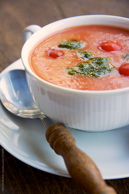 Creamy Tomato Soup  by Harald Walker for Stocksy United
