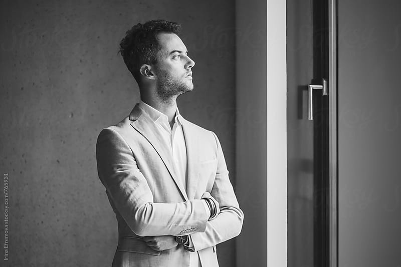 Stylish man profile by Irina Efremova for Stocksy United