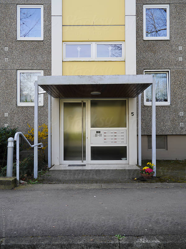 Entrance to an apartment block or offices by rolfo for Stocksy United