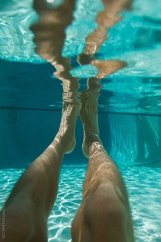 Underwater image in pool. by RZ CREATIVE for Stocksy United