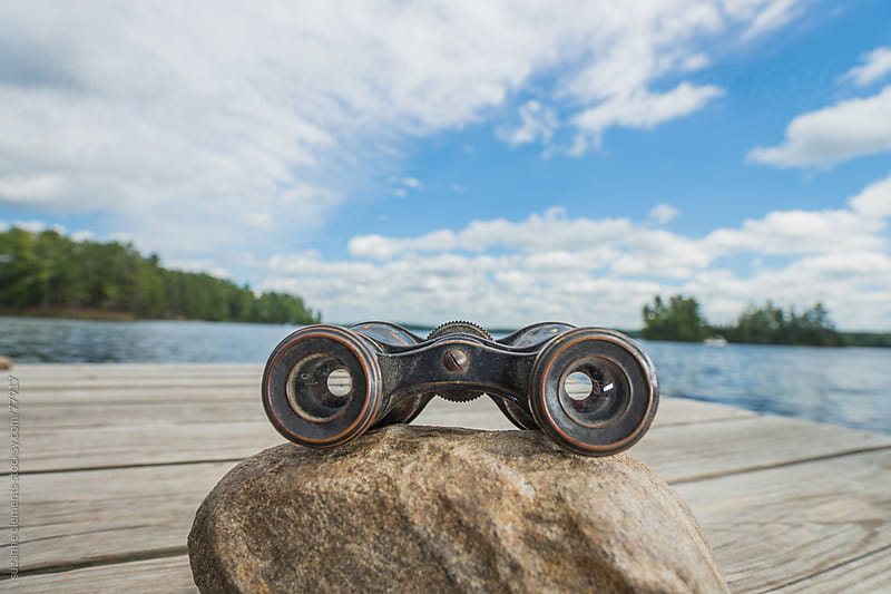 Taking in the View at the Lake Up North by suzanne clements for Stocksy United