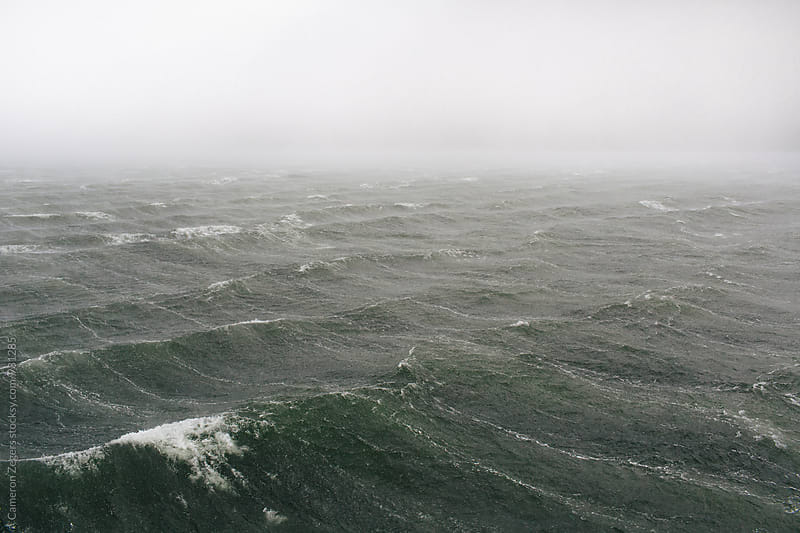 stormy seas  by Cameron Zegers for Stocksy United
