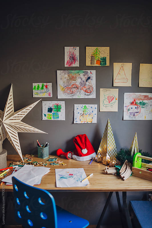 Child's Desk at Christmas by Lumina for Stocksy United