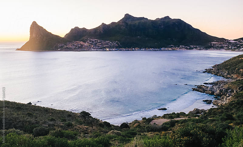 Hout Bay in Cape Town at sunset by Micky Wiswedel for Stocksy United