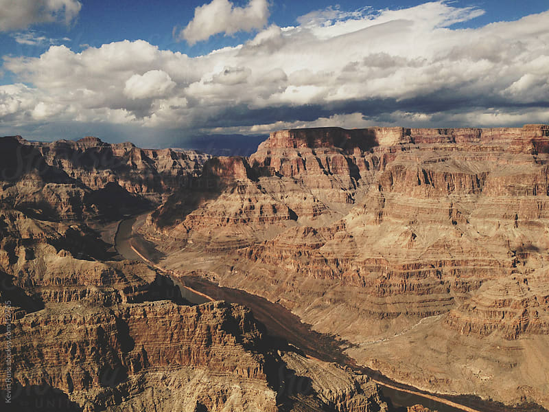 Clouds Over the Grand Canyon by Kevin Russ for Stocksy United