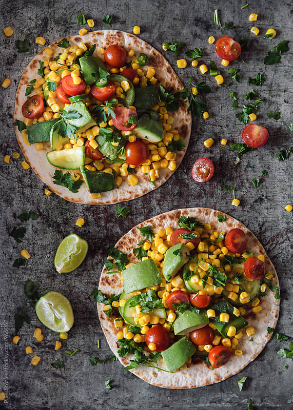Vegetarian Summer tacos by Pixel Stories for Stocksy United