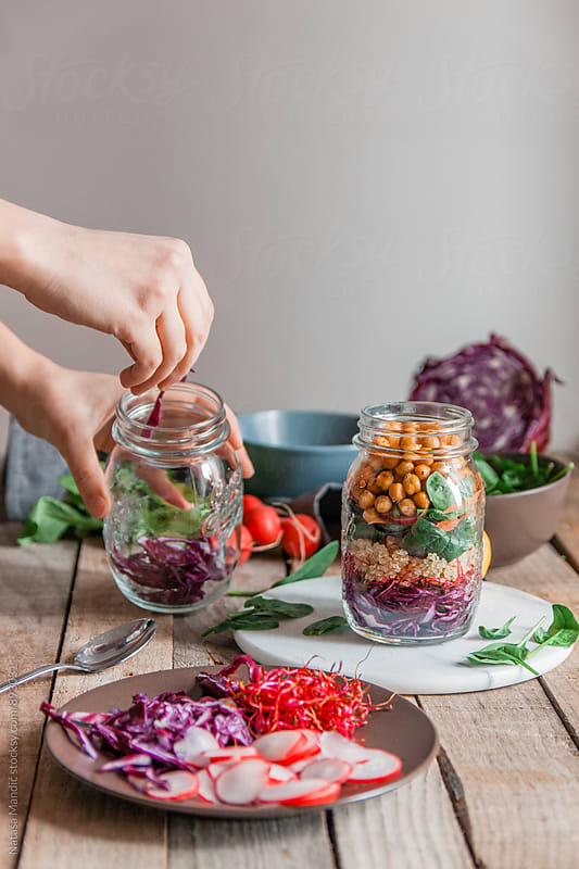 Jar Salad by Nataša Mandić for Stocksy United