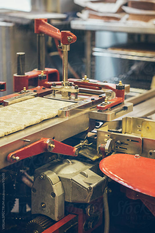 Old-Fashioned Industrial Wrapping Machine by VISUALSPECTRUM for Stocksy United