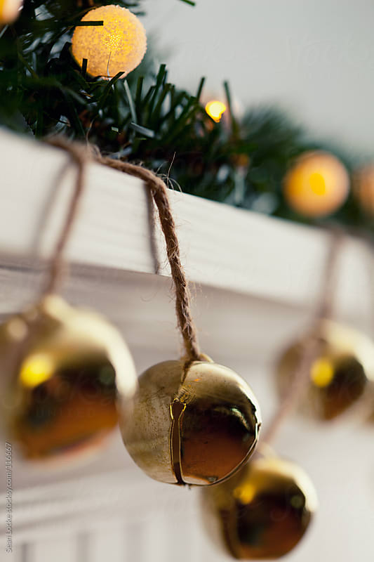 Holidays: Close Up of Brass Bell Decoration by Sean Locke for Stocksy United