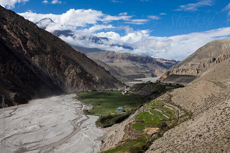 Small village of Kagbeni on the river bank of Kali Gandaki. by Shikhar Bhattarai for Stocksy United