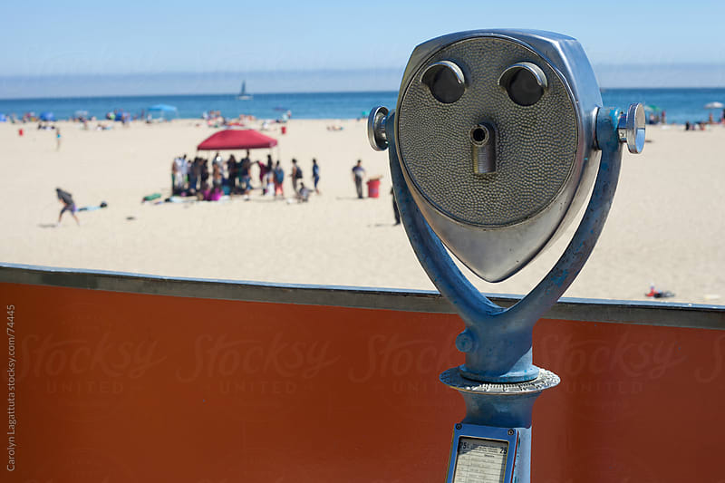 Viewfinder at the beach in Santa Cruz by Carolyn Lagattuta for Stocksy United