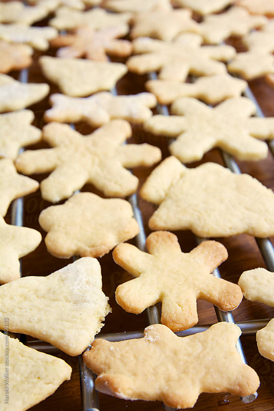 Christmas cookies on a rack by Harald Walker for Stocksy United