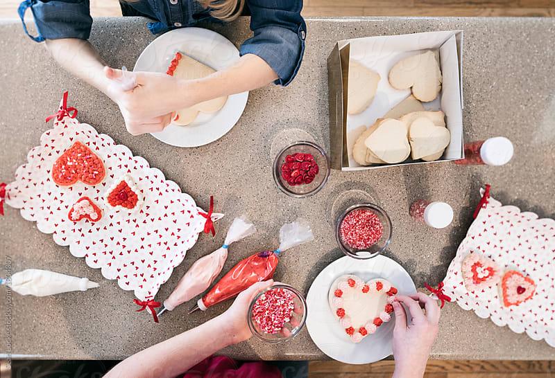 stock photo: valentine cookies