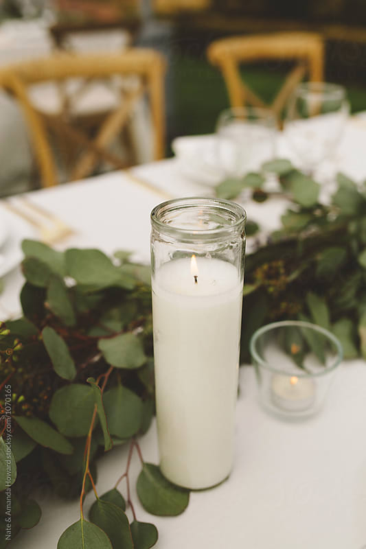 Candle Centerpiece by Nate & Amanda Howard for Stocksy United