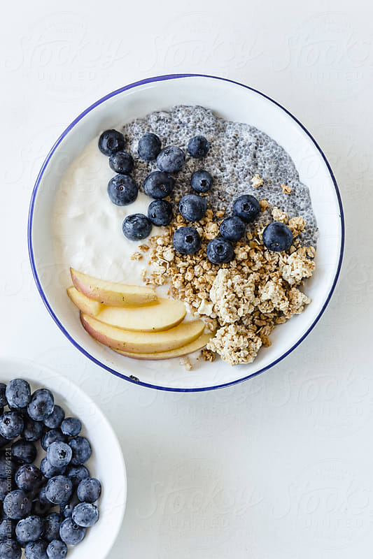 Delicious breakfast in bowl by Vera Lair for Stocksy United